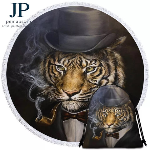 Tiger By JP.Pemapsorn Round Towel