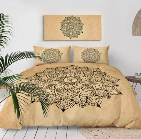 Beige Mandala Bedding Set