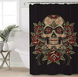 Vintage Skull & Roses Shower Curtain