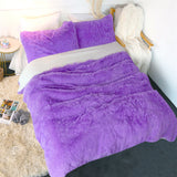 Shaggy Flux Fur Duvet Set (9 Colours)