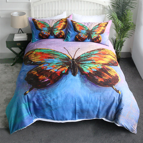 Artist Acrylic Butterfly Bedding Set