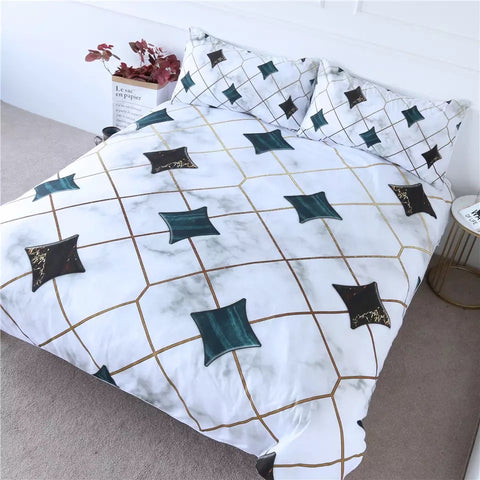 Triangle Marble Pattern Bedding Set