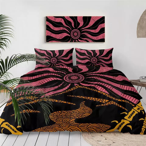 Japanese Mandala by Lionhearts Bedding Set