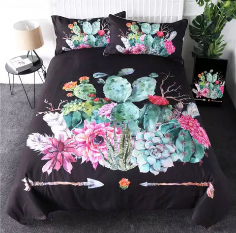Different Types Of Cactus Bedding Set