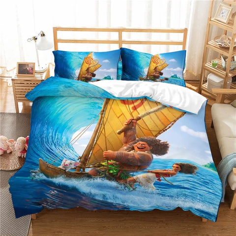 Moana and Maui Sailing Bedding Set