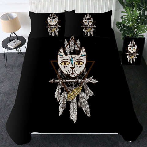 Tribal Cat Dreamcatcher Bedding Set