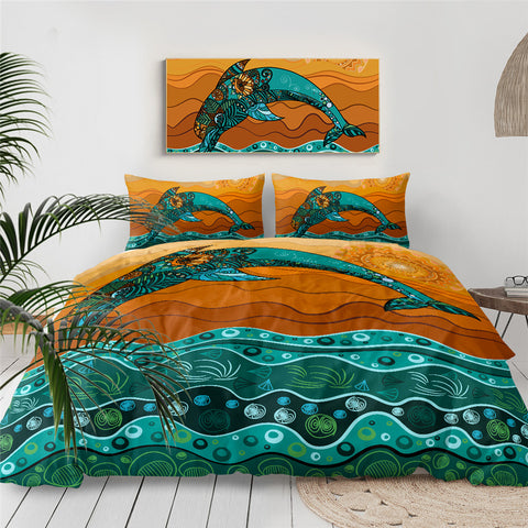 Mandala Dolphin Bedding Set