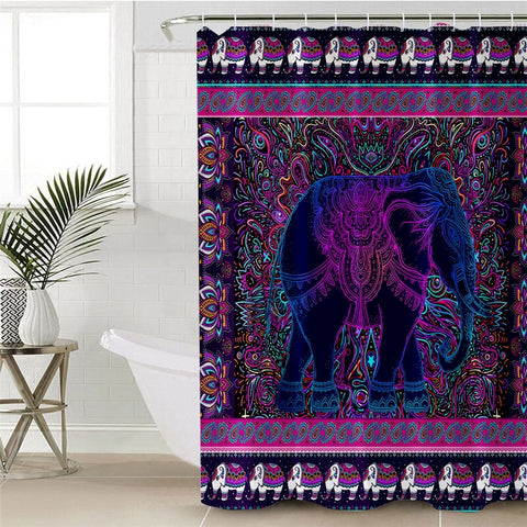 Elephant by Ismot Esha Shower Curtain