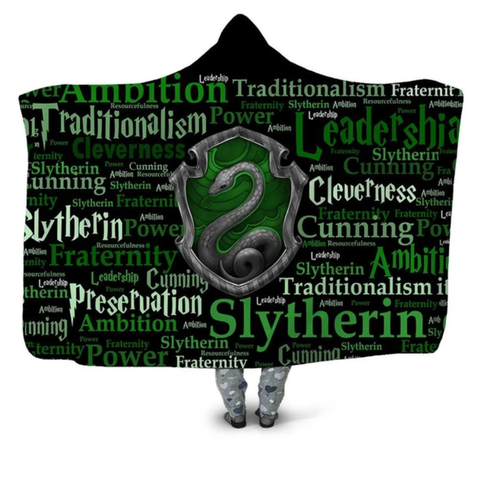 Slytherin Traits Hooded Blanket