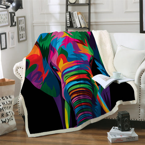 Spiritual Elephant by Weer Throw Rug