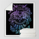 Wolves Heart (Black) By SunimaArt Throw Rug