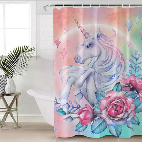 Pastel Unicorn Shower Curtain