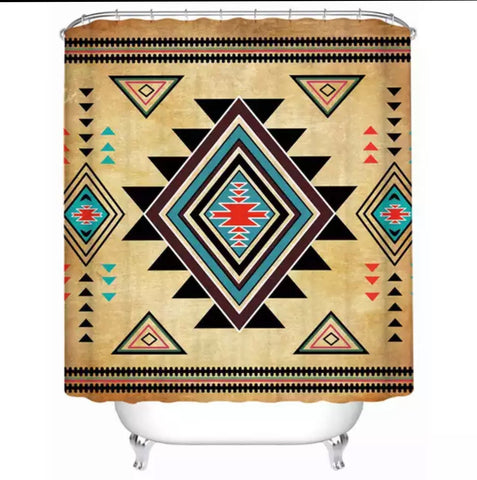 American Indian Pattern Shower Curtain