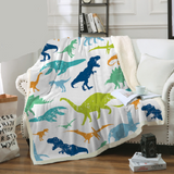 Silhouette Dinosaur Breeds Throw Rug