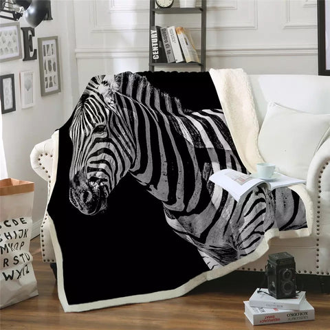 Black & White Zebra Throw Rug