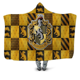 Hufflepuff Checkered Hooded Blanket
