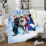 Frozen Cast Throw Rug
