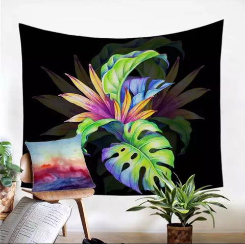 Tropical Monstera Wall Tapestry