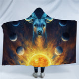 Celestial By JoJoesArt Hooded Blanket