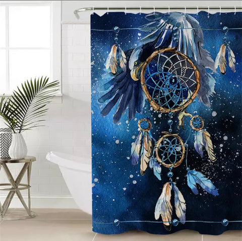 Bald Eagle Dreamcatcher Shower Curtain