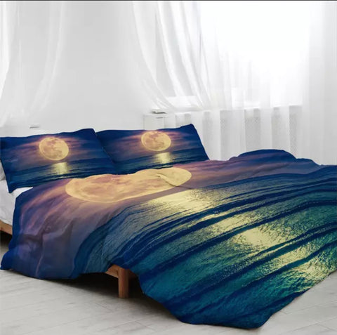 Moonlight Over The Ocean Bedding Set
