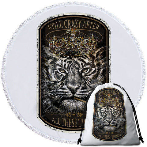 Tiger King By JP.Pemapsorn Round Towel