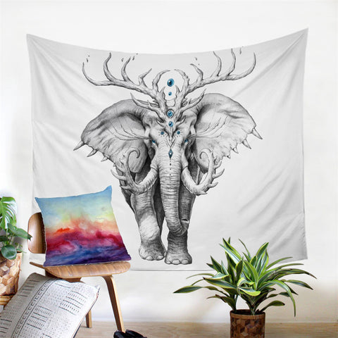Elephant Soul by JoJoesArt Wall Tapestry