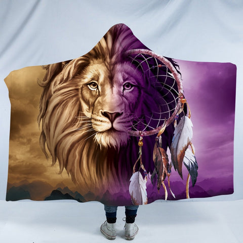 Lion Infused Dreamcatcher Hooded Blanket