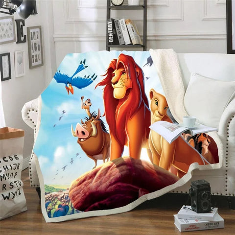 Lion King Characters Throw Rug