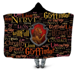 Gryffindor Traits Hooded Blanket