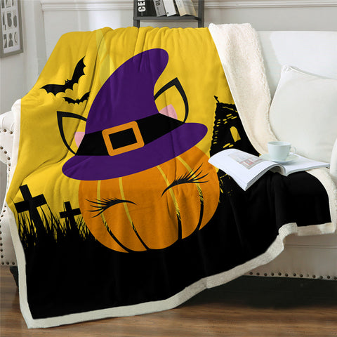 Lady Pumpkin Throw Rug