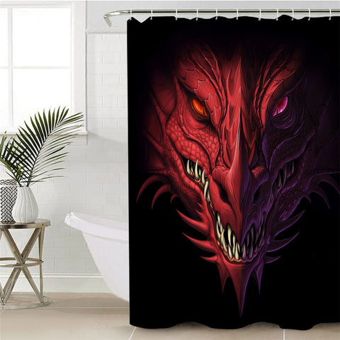 Red Dragon Shower Curtain
