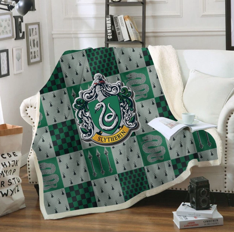 Slytherin Checkered Throw Rug