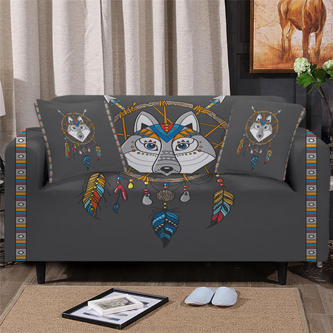 Wolf Dreamcatcher Sofa Cover