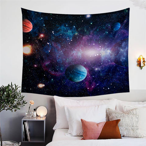 Planets & Stars Wall Tapestry