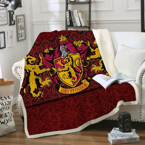 Gryffindor Paisley Throw Rug