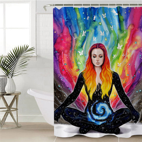 Meditation By Pixie Cold Art Shower Curtain