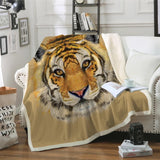 Tiger Face Throw Rug