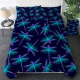 Neon Dragonflies Bedding Set