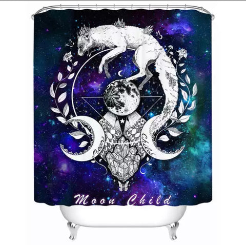 Moon Child By Pixie Cold Art Shower Curtain