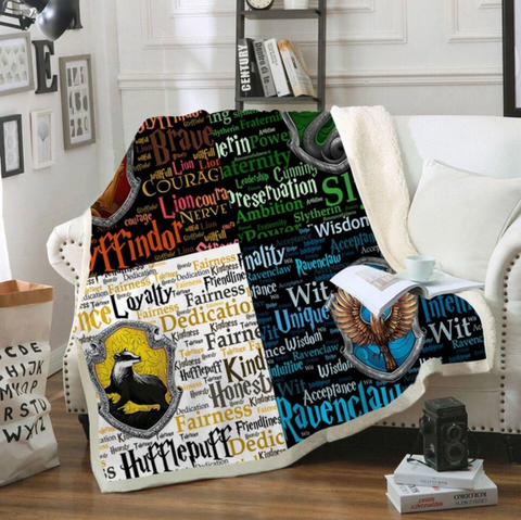 Hogwarts Four Houses Traits Throw Rug