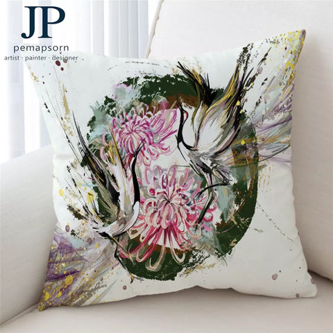Bird By JP.Pemapsorn Cushion Cover