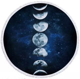 Moon Phases Round Towel