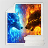 Fire & Ice By JoJoesArt Throw Rug