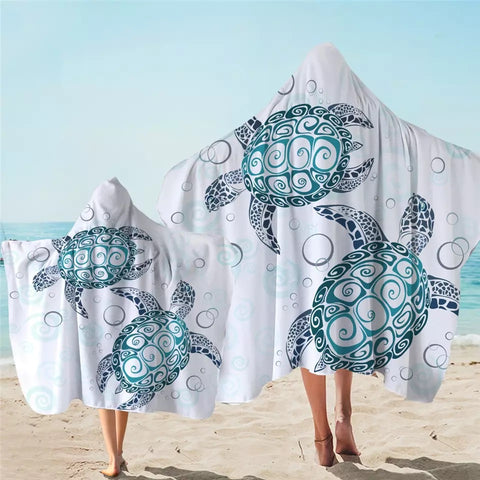 Turtle Mandala Hooded Towel