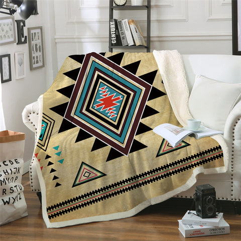 American Indian Patten Throw Rug