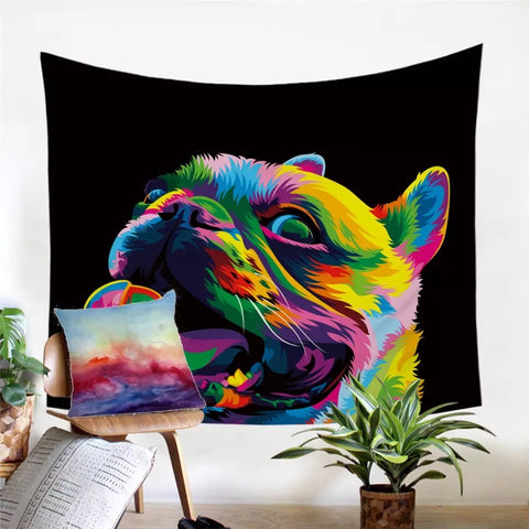 Loyal Bulldog By Weer Wall Tapestry