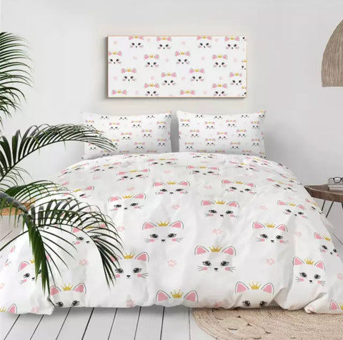 Princess Cats Bedding Set