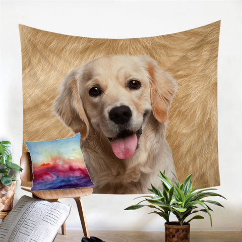 Golden Labrador Wall Tapestry