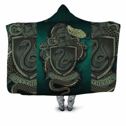Slytherin Shield Hooded Blanket